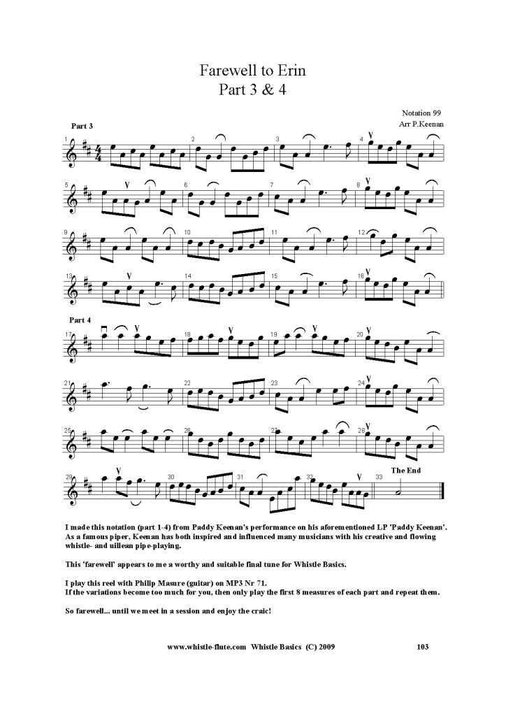 WHISTLE-FLUTE.COM - Monthly Tune